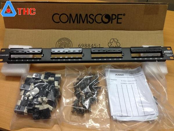 Patch Panel 24 Commscope cat5e, Patch Panel 24 Cổng Cat5e